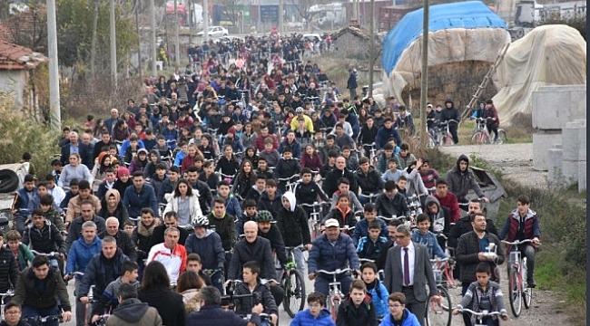 Bigadiç'te Pedallar Sağlık İçin Çevrildi