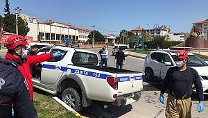 Otomobil ile zabıta aracı çarpıştı: 1 yaralı