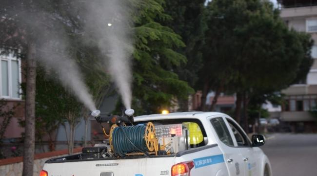 Altıeylül'de 93 bin hektar alanda haşere ile mücadele