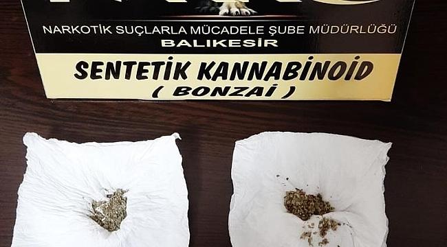 Balıkesir polisinden uyuşturucu tacirlerine operasyon