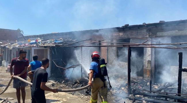 Avşa Adasındaki yangında evler zarar gördü
