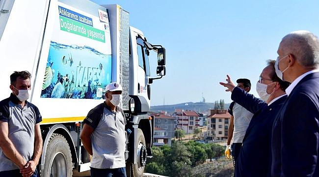 Karesi Belediyesi 500 yeni çöp konteyneri aldı