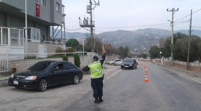 Jandarma Trafik Timlerinden Emniyet kemeri denetimi